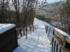 Zima vRoztokách, cesta podle Berounky - leden 2016, autor Ing.Lenka Peterková